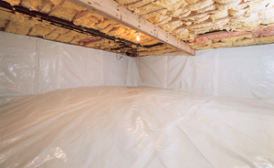 Crawl Space Moisture Barrier After in Idaho Falls