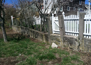 a retaining wall installed in Pocatello