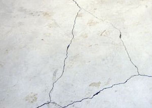 cracks in a slab floor consistent with slab heave in Burley.