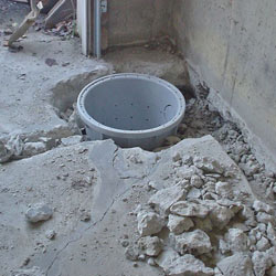Placing a sump pit in a Sandpoint home