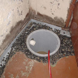 Installing a sump in a sump pump liner in a Pocatello home
