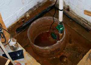 Extreme clogging and rust in a Moscow sump pump system