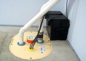 Mountain Home installation of a submersible sump pump system
