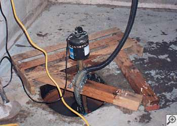A Mountain Home sump pump system that failed and lead to a basement flood.