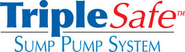 Sump pump system logo for our TripleSafe™, available in areas like Mountain Home