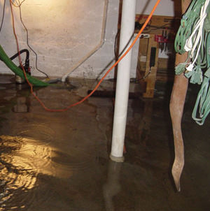 Foundation flooding in a Lewiston,Idaho home