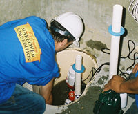 installing a sump pump and backup sump pump system in Preston, ID