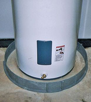 An old water heater in Rupert, ID with flood protection installed