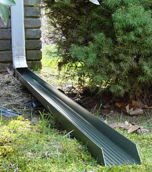 Gutter downspout extension installed in Payette