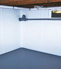 Plastic basement wall panels installed in a Post Falls, Idaho home