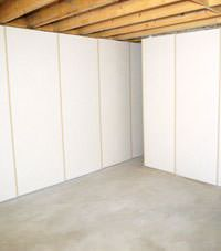 Unfinished basement insulated wall covering in Post Falls, Idaho